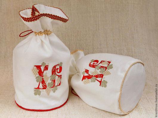 Подарки на Пасху ручной работы. Ярмарка Мастеров - ручная работа. Купить Мешочек для пасхального кулича ХВ. Handmade. Пасха