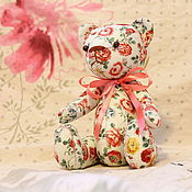 Куклы и игрушки ручной работы. Ярмарка Мастеров - ручная работа Цветочный мишка Тедди.. Handmade.