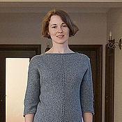 """Одежда ручной работы. Ярмарка Мастеров - ручная работа Платье """"Tweed"""" серое. Handmade."""