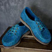 Обувь ручной работы. Ярмарка Мастеров - ручная работа Туфли из войлока на маленькую ножку (35-36 р.). Handmade.
