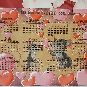 Канцелярские товары ручной работы. Ярмарка Мастеров - ручная работа Календарь новый год 2020. Handmade.
