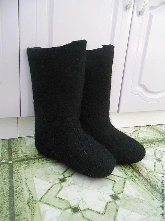 Обувь ручной работы. Ярмарка Мастеров - ручная работа. Купить Женские черные валенки. Handmade. Черный, валенки для дома