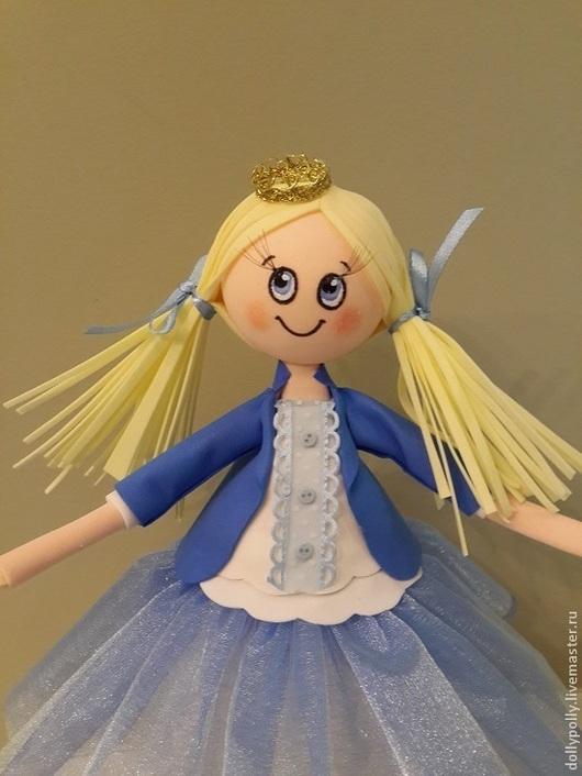 Коллекционные куклы ручной работы. Ярмарка Мастеров - ручная работа. Купить Маленькая принцесса. Handmade. Синий, кукла в подарок