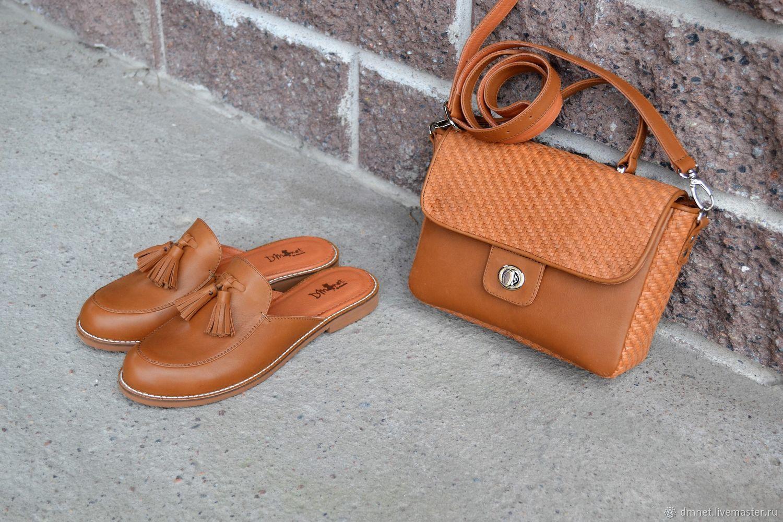 Обувь ручной работы. Ярмарка Мастеров - ручная работа. Купить Комплект мюли+сумочка. Handmade. Комплект, натуральная кожа, сумочка из кожи