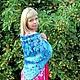 Order batik scarf 'allemande'. OlgaPastukhovaArt. Livemaster. . Shawls1 Фото №3