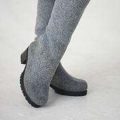 """Обувь ручной работы. Ярмарка Мастеров - ручная работа Валяные сапожки """"Виндзор"""". Handmade."""