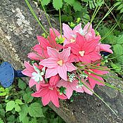 Косметика ручной работы handmade. Livemaster - original item Soap bouquet in a tin watering can Lilies. Handmade.
