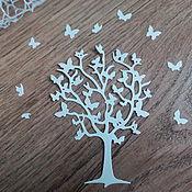Материалы для творчества handmade. Livemaster - original item !Cutting for scrapbooking -Tree of Butterflies. Handmade.