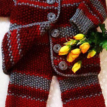 Товары для малышей ручной работы. Ярмарка Мастеров - ручная работа Вязаный костюм для малыша. Handmade.