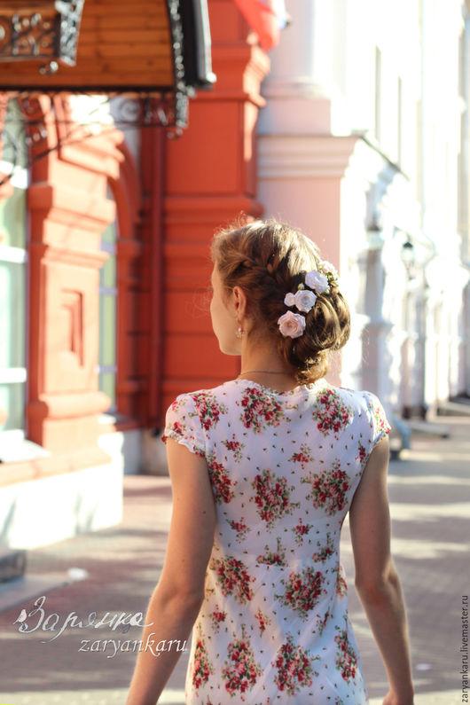 Платья ручной работы. Ярмарка Мастеров - ручная работа. Купить Платье Прованс. Handmade. Платье, Платье в цветочек, серьги с жемчугом