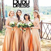 Бежевые подружки невесты