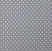 Материалы для творчества ручной работы. Ярмарка Мастеров - ручная работа Ткань Хлопок Горошек на сером. Handmade.