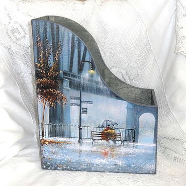 Канцелярские товары ручной работы. Ярмарка Мастеров - ручная работа Журнальница Город, дождь, нас двое.... Handmade.