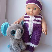 Куклы и игрушки handmade. Livemaster - original item Knitted clothing for dolls Baby Born. Handmade.