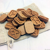 Фен-шуй и эзотерика handmade. Livemaster - original item A set of Runes made of Beech. Handmade.