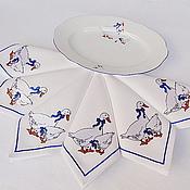 """Салфетки ручной работы. Ярмарка Мастеров - ручная работа Салфетка с вышивкой """"Гуси"""". Handmade."""