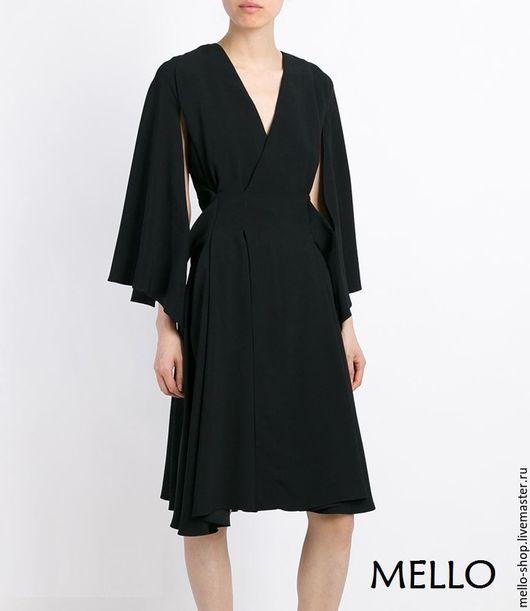Черное котейльное платье летнее, короткое летнее платье до колен, котейльное летнее платье с рукавами, коктейльное платье летнее, короткое  котейльное летнее платье, черное платье коктейльное
