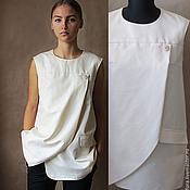 Одежда ручной работы. Ярмарка Мастеров - ручная работа Блуза, итальянский хлопок. Handmade.