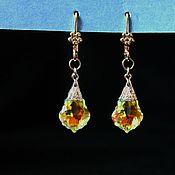 Украшения handmade. Livemaster - original item Yodirovannoye earrings with Swarovski crystal Baroque. Handmade.
