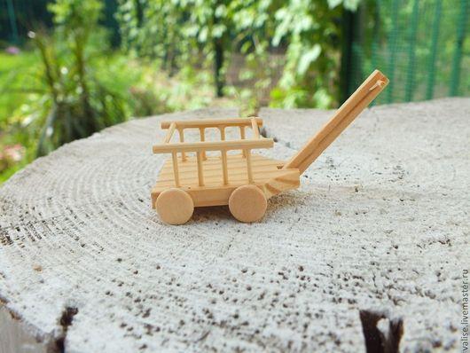 Куклы и игрушки ручной работы. Ярмарка Мастеров - ручная работа. Купить Миниатюрная тележка. Handmade. Бежевый, миниатюра для кукол