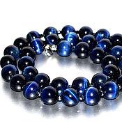 Украшения handmade. Livemaster - original item Beads from natural stone Cat eyes. Handmade.