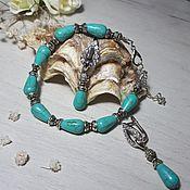 Украшения handmade. Livemaster - original item Bracelet and earrings with turquoise