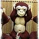 Игрушки животные, ручной работы. Три обезьяны. Чудеса из шерсти Зои Садовской (FeyaZoya). Ярмарка Мастеров. Подарок на любой случай