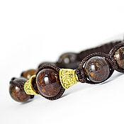 Украшения handmade. Livemaster - original item Shamballa bracelet with bronzite stone. Handmade.