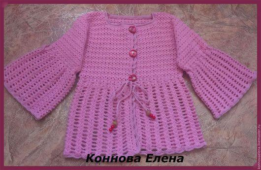 Одежда для девочек, ручной работы. Ярмарка Мастеров - ручная работа. Купить Кофта Сказочная фея. Handmade. Розовый, мохеровый