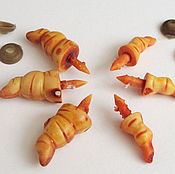Материалы для творчества ручной работы. Ярмарка Мастеров - ручная работа Носики-морковки фактурные (рожки) желто-оранжевые. Handmade.
