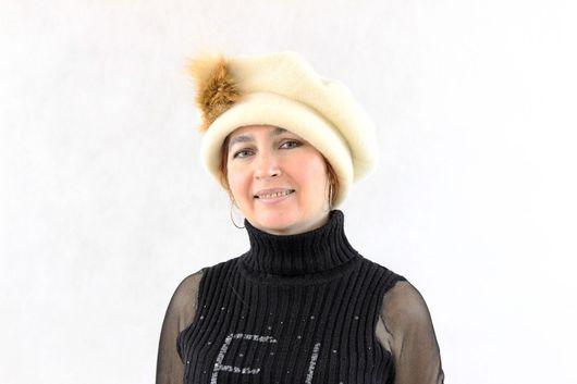 Шапки ручной работы. Ярмарка Мастеров - ручная работа. Купить Шапка женская зимняя. Handmade. Шляпка, шапка женская