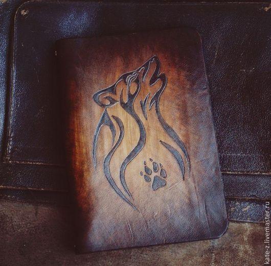 Блокноты ручной работы. Ярмарка Мастеров - ручная работа. Купить Блокнот на кольцах Волк ежедневник кожаный мужской женский из кожи. Handmade.