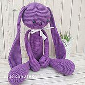 Куклы и игрушки handmade. Livemaster - original item Great knitted long-eared rabbit. Handmade.