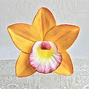 Украшения ручной работы. Ярмарка Мастеров - ручная работа Шпилька с орхидеей. Handmade.