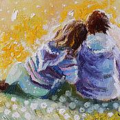 Картины и панно ручной работы. Ярмарка Мастеров - ручная работа Одуванчики в саду. Handmade.