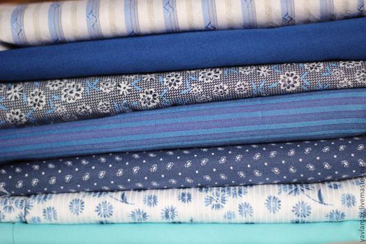 """Шитье ручной работы. Ярмарка Мастеров - ручная работа. Купить Набор тканей """"Синие ночи"""". Handmade. Набор тканей, ткань"""