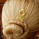 Заколки ручной работы. Заколка - шпилька для волос из дерева (сирень). Oakforest (Александр). Ярмарка Мастеров. Заколка ручной работы