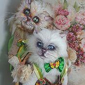 """Куклы и игрушки ручной работы. Ярмарка Мастеров - ручная работа Интерьерные вязаные игрушки """" Котя и Катя"""". Handmade."""