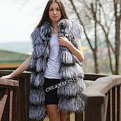 Одежда handmade. Livemaster - original item fur vest silver fox. Handmade.