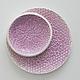 блюдце сиреневое фиолетовое лиловое кружевное с цветком тарелка