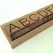 """Мягкие игрушки ручной работы. Ярмарка Мастеров - ручная работа Английский алфавит из дерева """"Litterawood"""". Handmade."""