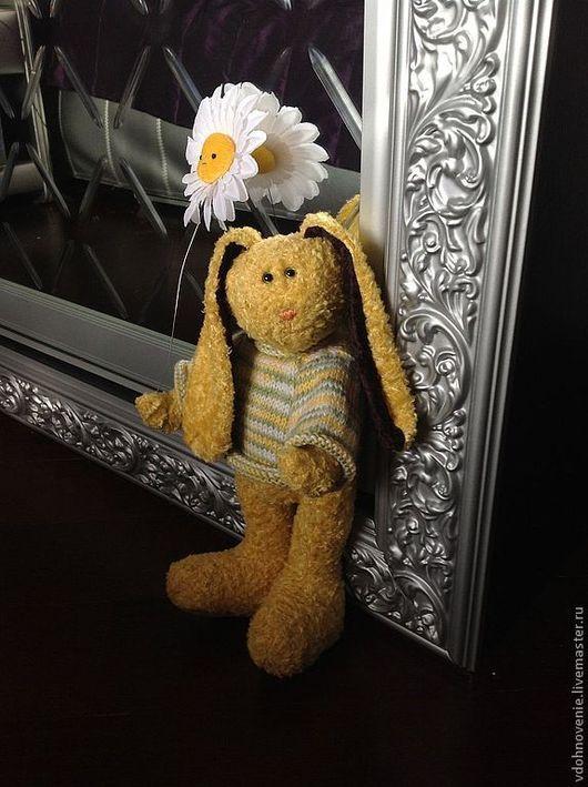 Мишки Тедди ручной работы. Ярмарка Мастеров - ручная работа. Купить Солнечный Зайчик. Handmade. Желтый, заяц тедди, вискоза