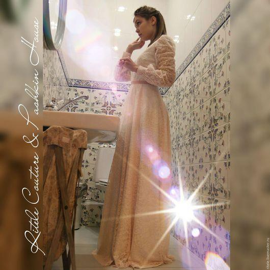 """Платья ручной работы. Ярмарка Мастеров - ручная работа. Купить Платье кружевное """"La perla"""". Handmade. Платье, платье прозрачное"""