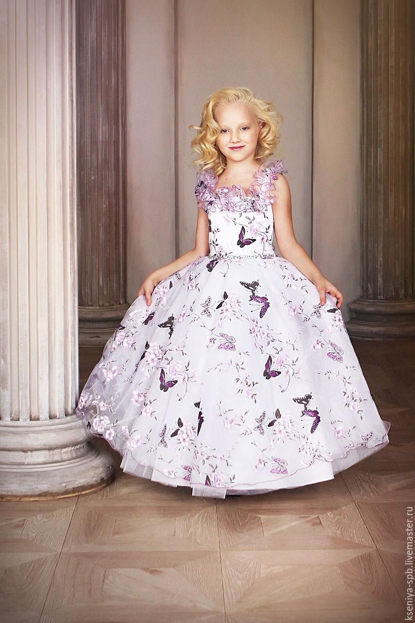 Платья впереди короткое сзади длинное для детей