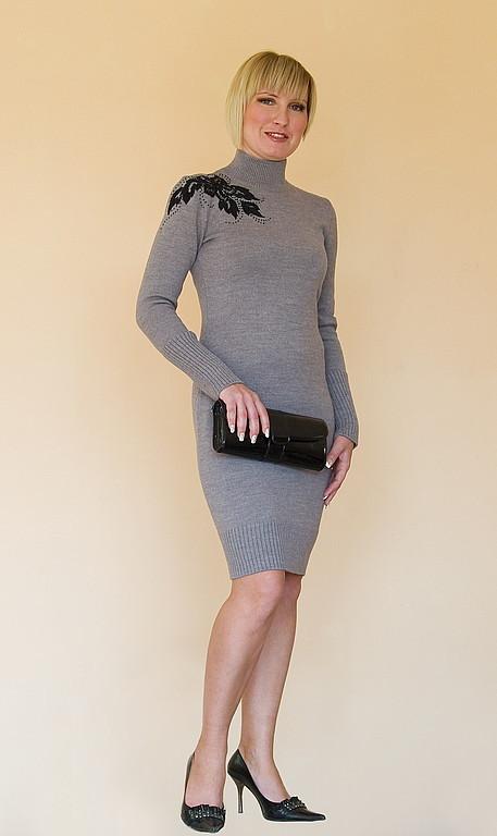 Платья ручной работы. Ярмарка Мастеров - ручная работа. Купить Платье вязаное 4216. Handmade. Платье, платье с вышивкой