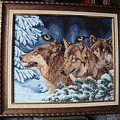 Картины и панно ручной работы. Ярмарка Мастеров - ручная работа Волчий взгляд. Handmade.