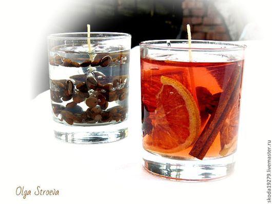 """Свечи ручной работы. Ярмарка Мастеров - ручная работа. Купить Гелевая свеча """"Апельсин"""" большая (новогодние свечи). Handmade."""