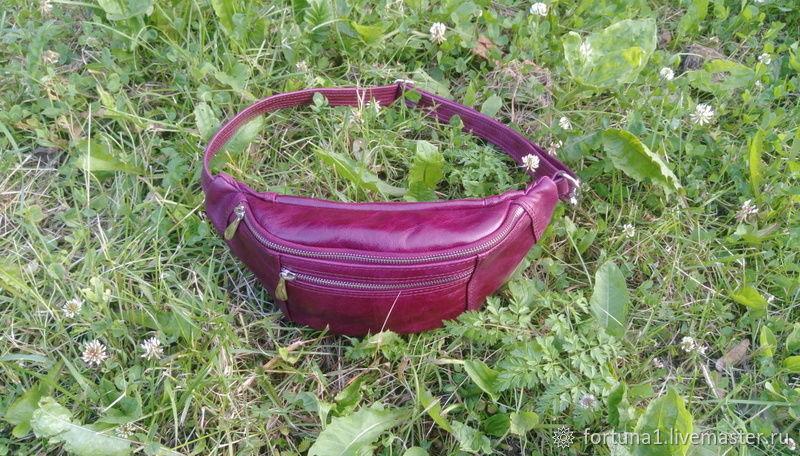 Bag leather belt, Waist Bag, St. Petersburg,  Фото №1