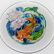 Посуда ручной работы. Ярмарка Мастеров - ручная работа Тарелка Золотая рыбка. Handmade.