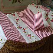 Куклы и игрушки handmade. Livemaster - original item Bedding set for doll`s bed( red). Handmade.